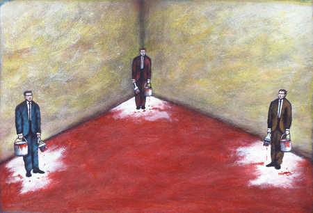 painted into corner